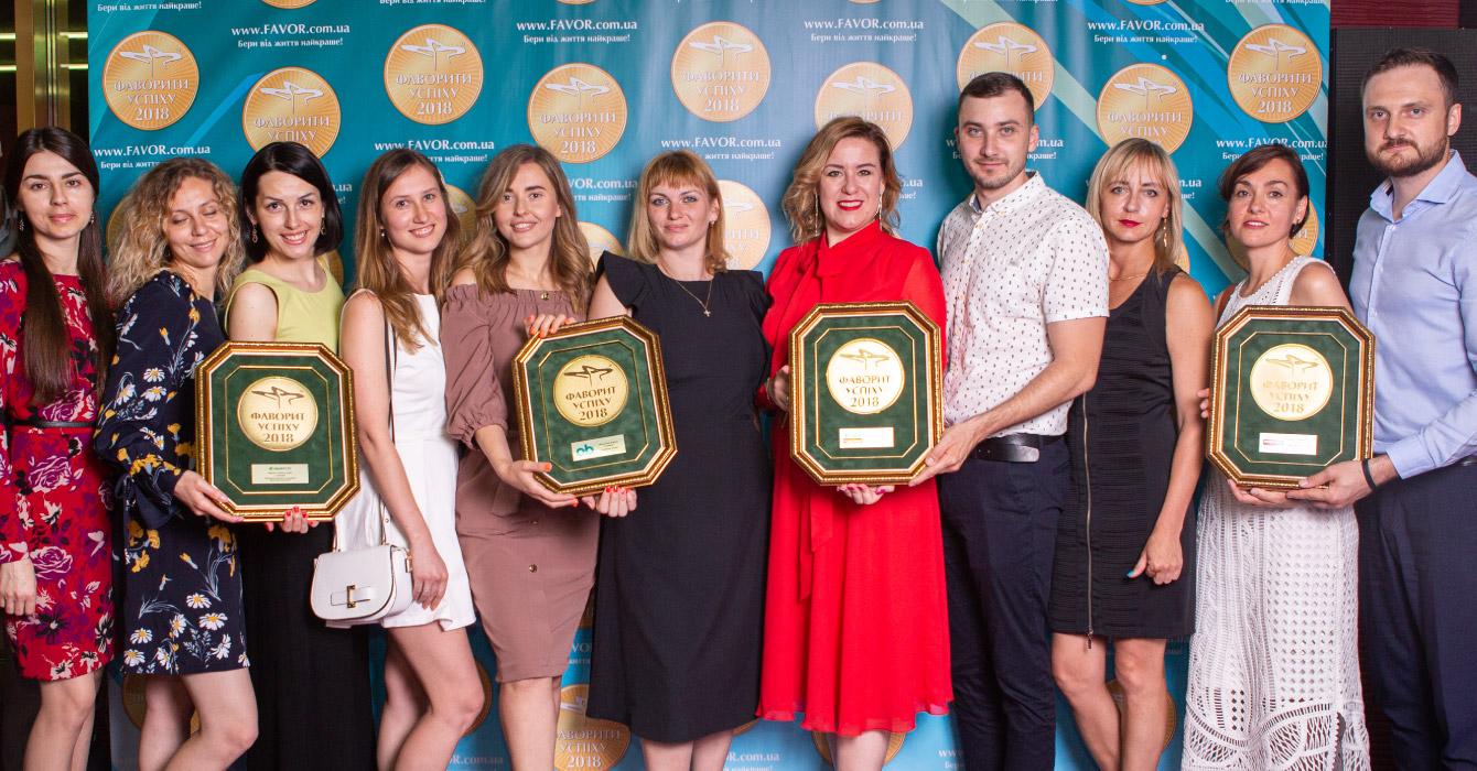 Команда компании «Джонсон и Джонсон Украина» отмечает победу четырёх продуктов: ТМНикоретте, o.b., Микролакс и Визин
